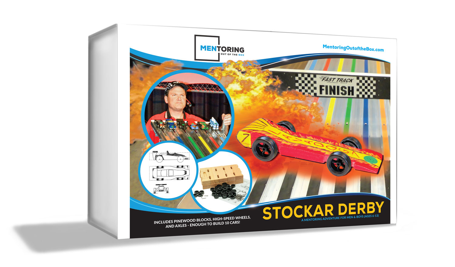 Mentoring Out of the Box - StocKar - for Men & Boys who want to build pinewood derby racers and learn about integrity!!