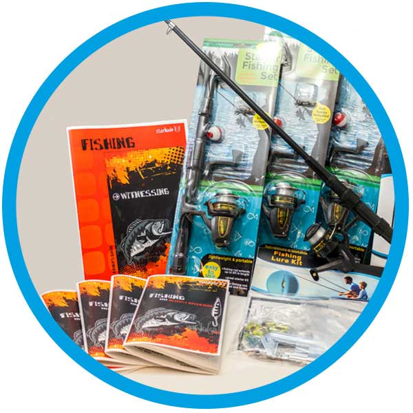 Our Mentoring Out of the Box - Fishing Kit has everything including (5) fishing poles and tackle!