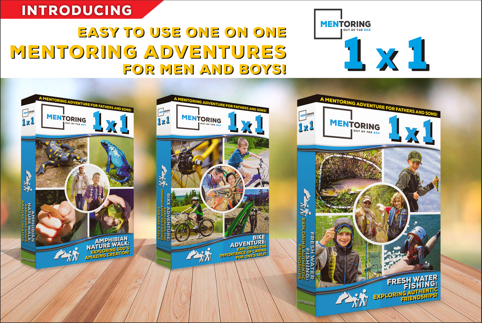 Mentoring out of the Box - Hiking Kit is for up to (5) boys to go on a hiking adventure!